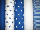 ROYAL BLUE ~ 100% Cotton Poplin Fabric ~ 112cms wide ~ Various Designs