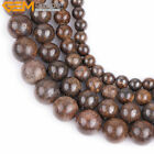 "Natural Stone Round Bronzite Beads For Jewelry Making 15"" 6mm 8mm 10mm 12mm 14mm"