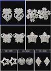 CHOOSE 121 MORE Style Bridal Drag Queen Clear Crystal Rhinestone Stud Earring