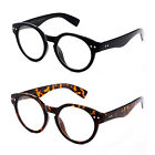 Keyhole Clear Lens Glasses Vintage Dapper Fashion Round Circle Unisex Men Women