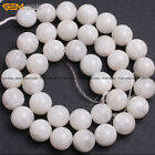 "Natural Gemstone White Moonstone Beads For Jewelry Making 15"" Wholesale BeadsStone - 179273"