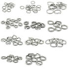 Stainless New Steel Open Jump Rings Sliver Tone M0995