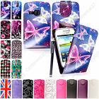 For Samsung Galaxy Young S6310 Printed Leather Magnetic Flip Case Cover+Stylus