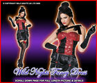 *** SALE *** FANCY DRESS COSTUME # LADIES WILD WEST BURLESQUE CAN CAN SIZE 8-18