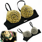 S0BZ New Hot Sexy Women Metallic Punk Spike Studs Rivet Underwear Bra Sleeping