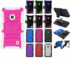For Nokia Lumia 521 HYBRID COMBO KICK STAND Rubber Case Phone Cover Accessory