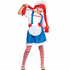 Girls Little Rag Doll Costume Fancy Dress Up Party Halloween Outfit Kid Child