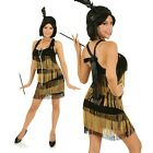 Adult 1920s Golden Girl Charleston Flapper Costume 20's Fancy Dress Party Outfit