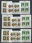 Aitutaki 1981 to 1982 Royalty sheetlets  Mint Never Hinged - various