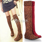 Women DZ88 Comfort Flat Heel Thigh High Over Knee Round Toe Boots Shoes 5 Colors