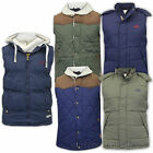 Mens Gilet Tokyo Laundry Jacket Bodywarmer Hooded Padded Lined Casual Winter New
