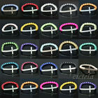 Wholesale 1Pc Smooth Glass Pearl Crystal Cross Elastic Shiny Bracelet 20Colors