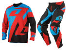 NEW 2014 ONE INDUSTRIES ATOM TRAVERSE MX JERSEY PANTS GEAR COMBO RED ALL SIZES