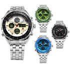 SHARK Men's Digital Quartz Wrist Watch Chronograph Sport Analog Stainless Steel