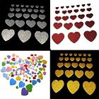 Wholesale Heart Glittery Party Mix Color 3D Self Adhesive Foam Crafts Sticker