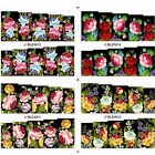 1sheet Elegant Beautiful Peony Flower Nail Water Decals Sticker Transfer Sticker