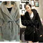 Ladies Fleece Hoodie Coat Long Sleeve Cardigan Sexy Hooded Jacket Punk Tops Q499