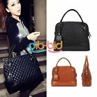 Women Mature Celebrity PU Leather Tote Handbag Lock Shoulder Satchel Bag ERUS