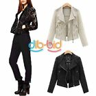 Ornate Women Punk Lace Crochet Motorcycle Coat Short Jacket Tops
