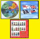 2001 Miniature Sheet Issues of Great Britain MS2201, MS2206 & MS2215 Mint nh