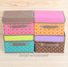 New Cute Heart Print Non-Woven Underwear Clothes Organizer Storage Box Case