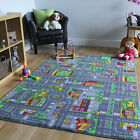 Play Town Village Roads Kids Mats Cheap Small Large Street Cars ChildrenÂ's Rug
