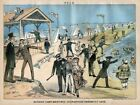 MODERN CAMP MEETINGS 1881 POLICE ENFORCE LAWS RIGORS OF RELIGION SERMON BATHERS