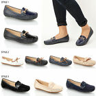 WOMENS LADIES CASUAL WORK OFFICE TASSEL FLAT FAUX LEATHER LOAFERS SHOES SIZE