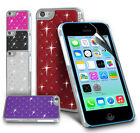 NEW DIAMANTE BLING HARD BACK CASE COVER FOR APPLE IPHONE 5C & SCREEN GUARD