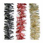 Christmas Xmas Tree 1.8m Decorative Chunky Tinsel Decoration Red Silver Gold