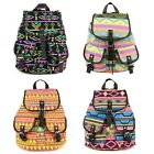 DZ88 Vintage Canvas Floral Cute School Satchel Rucksack Backpack Campus Bag
