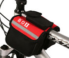 Cycling Pannier Bicycle Front Tube Bike Rack Pouch Phone Bilateral Bag Package