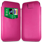 PREMIUM CARD SLOT PU LEATHER PULL FLIP TAB CASE COVER POUCH FOR NOKIA PHONES