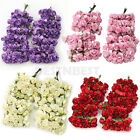 Hot Sale 144 X Chic Mini Artificial Paper Rose Flower Wedding Card Decor DIY New