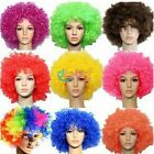 Hot Fancy Unisex Adult Childs Disco Clown Costume Party Curly Afro Wig