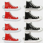New 20Pcs Two-Sided Mix/Red/Black Zinc Alloy Enamel Shoes Charms Pendant 30x17MM