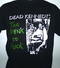 DEAD KENNEDYS TOO DRUNK TOO ....LONG SLEEVE MENS MUSIC  T SHIRT SMALL - 2XL