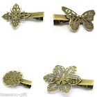 Hair Clips Bobby Pins Bronze Tone M1004