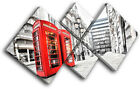 London Phonebox Red City MULTI CANVAS WALL ART Picture Print VA