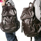 Fashion Men/Women Backpack Rucksack School Bag Satchel PU Leather Hiking Bag