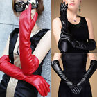 1PC Newly Evening Party Wedding Elbow Finger Mitten Catwoman Leather Long Gloves