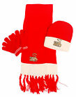Cute Kid Knit Scarf Hat Gloves Set with Monkey Embroidery Beanie