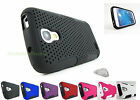 for Samsung Galaxy S4 IV MINI + PryTool Rubberized Mesh Hard/Soft Case Cover