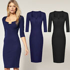 2014 New Women's Bodycon Party Evening Wiggle Work Casual Pencil Business Dress