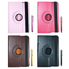 360 Rotating PU Leather Case Cover Stand + Stylus For Apple iPad Mini 1 2 3