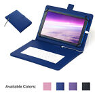 USB Keyboard Folio Leather Case Cover for 10 10.1 10.2 inch  Android Tablet