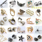 Vintage Retro Fashion Hot Cool Rock Punk Gothic Skull Wings Skull Finger Rings