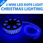 NEW 2 Wire LED Rope Light Home Outdoor Christmas Lighting Blue