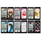 Wo Slim Front Back Clear Cartoon Screen Protector Film Cover For Iphone 4 4S (M)