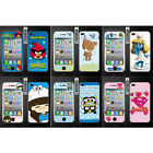 Wo Slim Front Back Clear Cartoon Screen Protector Film Cover For Iphone 4 4S (C)
